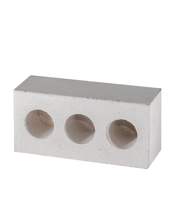 Кирпич силикатный белый полуторный трехпустотный лицевой, 250х120х88 мм, шт.