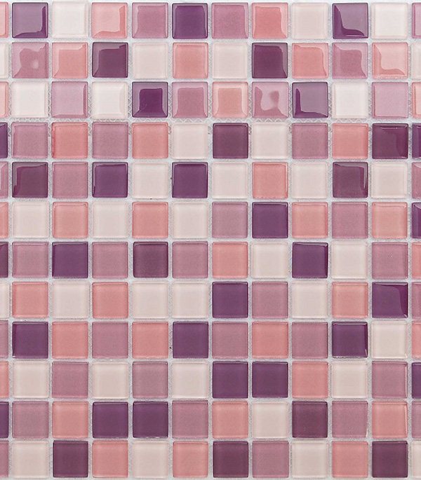 Мозаика стеклянная 298x298х4 мм Lavander/Карамелле