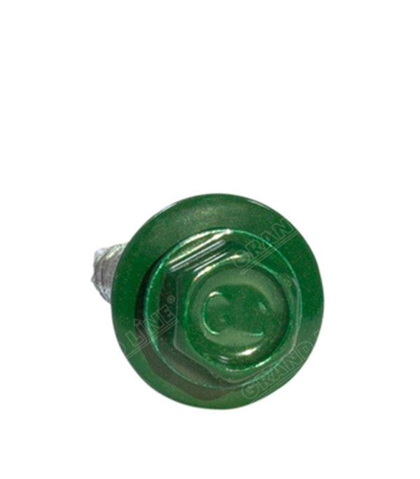 Саморезы кровельные с буром 35х4,8 мм зеленые RAL 6005 (250 шт) сталь Тайвань