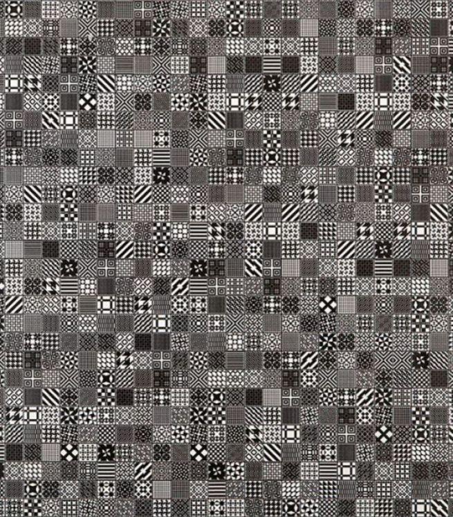 Плитка напольная 400х400х7 мм Мэриленд чёрный (7шт=1,12 кв.м)