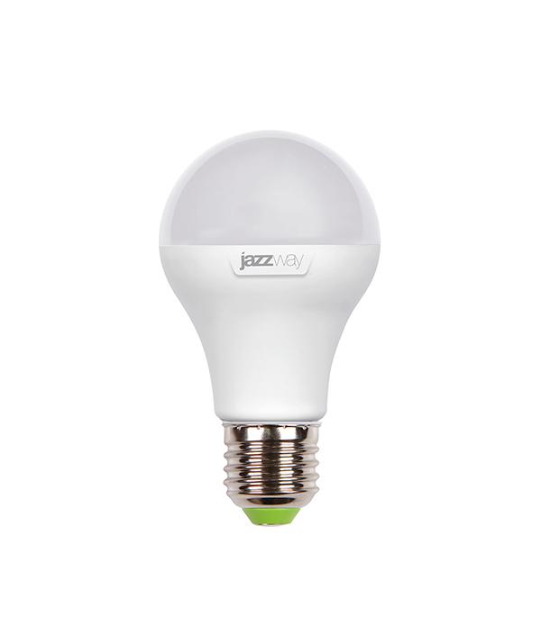 Лампа светодиодная E27,  8W, A60 (груша), 5000K (холодный свет), Jazzway