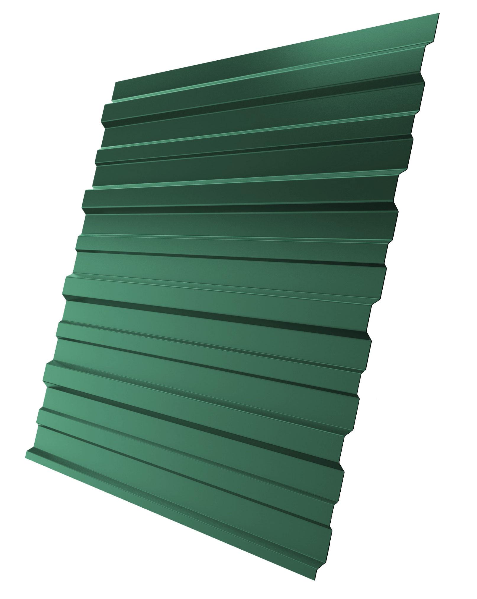 Профнастил С-10 1,18х2,00 м, толщина 0,5 мм 2х сторонний зеленый RAL 6005