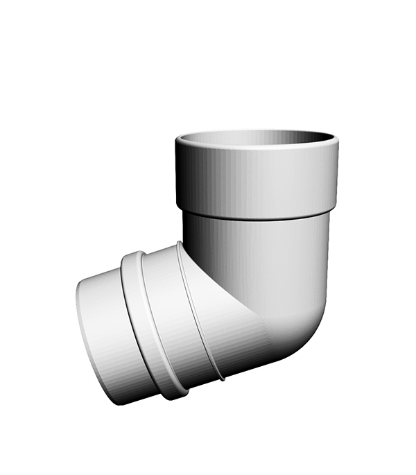 Колено трубы пластиковое d100 мм 72° пломбир, DOCKE LUX даниссимо продукт творожный пломбир 5 4% 130 г