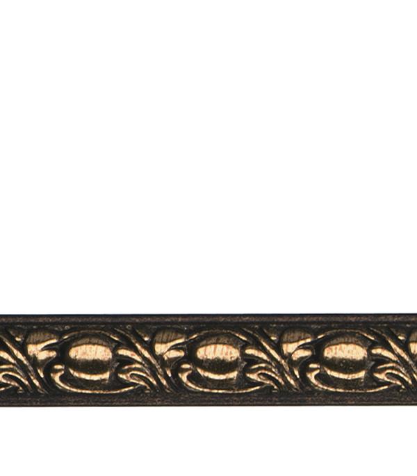 Плинтус (молдинг) 15х8х2400 мм Decomaster орех с золотом