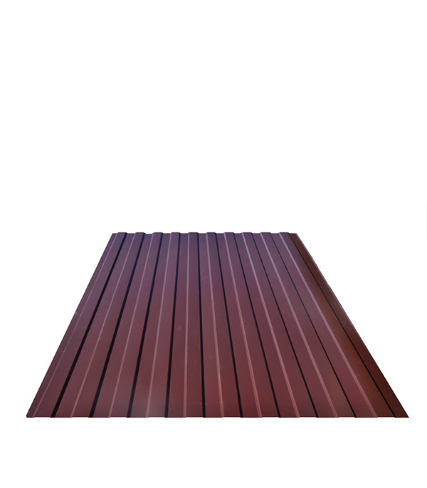 Профнастил  С-8 1,20х2,00 м, толщина 0,33 мм  коричневый RAL 8017