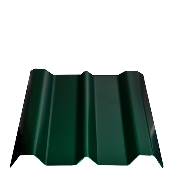 Евроштакетник зеленый толщина 0.4 мм 100х2000 мм  отлив белый 100х2000 мм ral9003