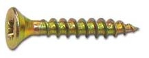 Саморезы универсальные   35х4,5 мм (200 шт) желтые