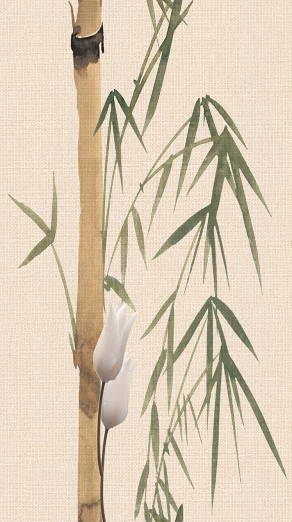 Плитка декор 250х450х8 мм Деми бамбук 1