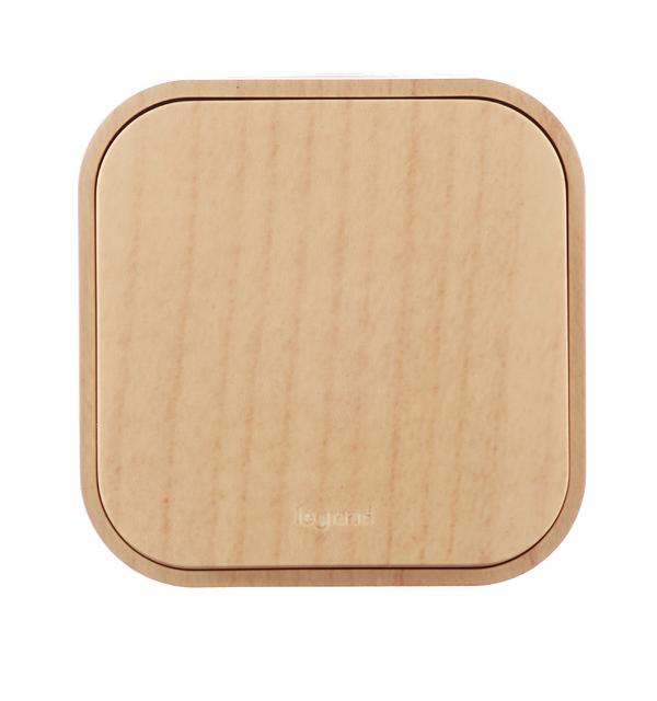 Выключатель одноклавишный Legrand Quteo о/у дерево выключатель 2 клавишный наружный ip44 белый 10а quteo