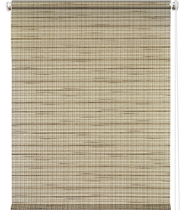 Штора рулонная 0,50х1,75 м Рига коричневый штора рулонная рига 50х175см бежевая