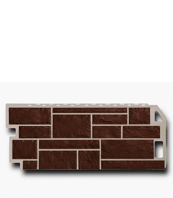 Фасадная (цокольная) панель FineBer 470х1137 мм Камень коричневый