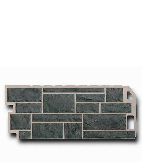 Фасадная (цокольная) панель FineBer 470х1137 мм Камень серо-зеленый