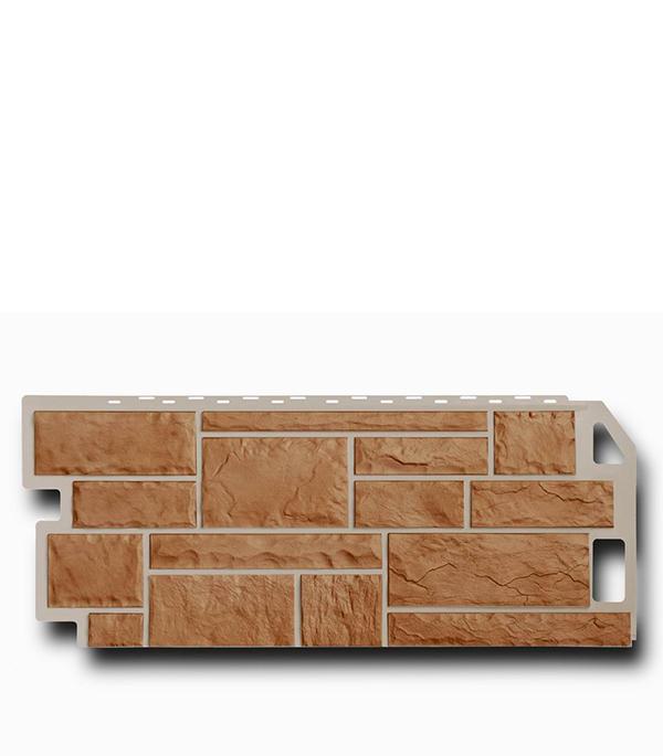 Фасадная (цокольная) панель FineBer 470х1137 мм Камень терракотовый
