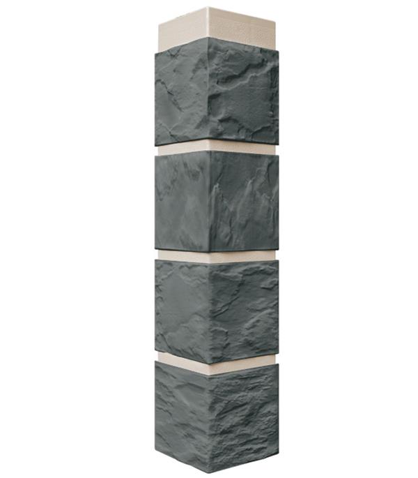 Фасадный угол наружный FineBer 115х115х470 мм Камень серо-зеленый