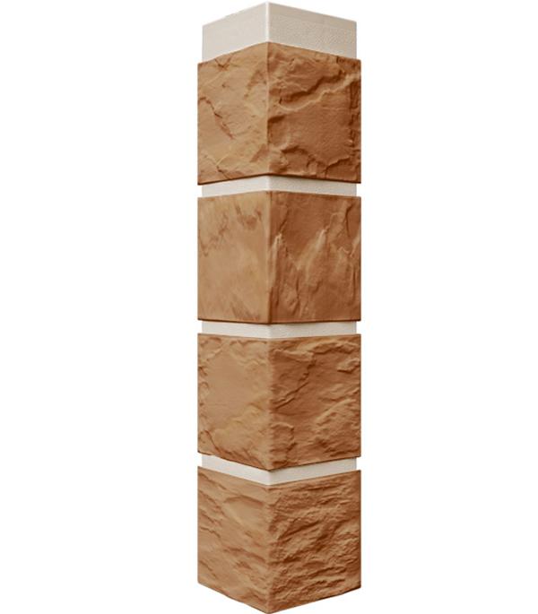 Фасадный угол наружный FineBer 115х115х470 мм Камень терракотовый