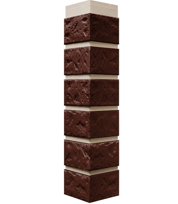 Фасадный угол наружный FineBer 115х115х470 мм Кирпич жженый