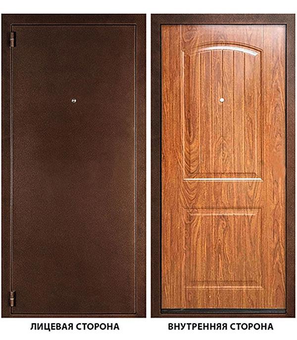 Дверь металлическая ДК Гамма (Классика) 880 x2050 мм левая, без ручки