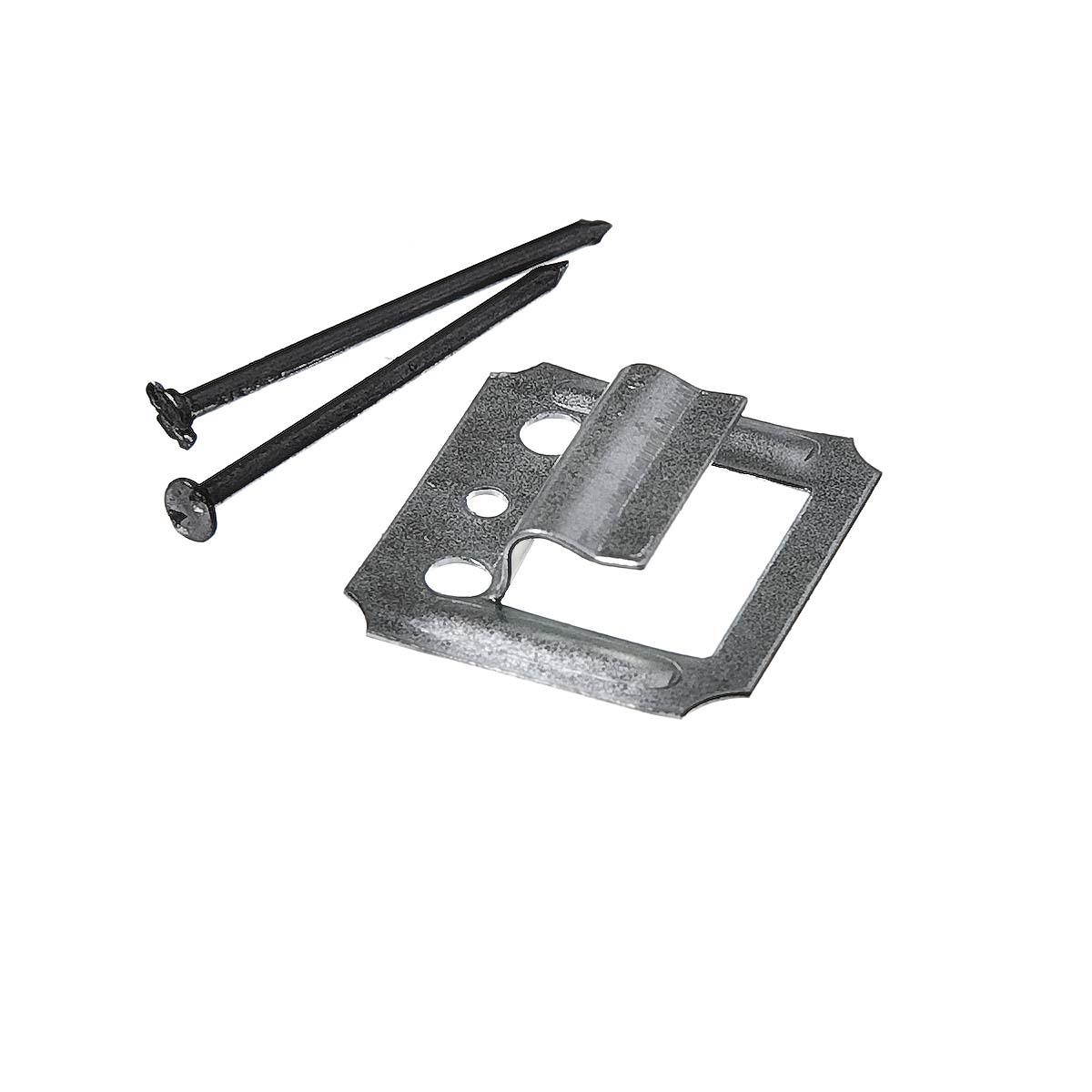 Крепеж (кляймер) №4 с гвоздями для вагонки и блок хауза (100 шт)