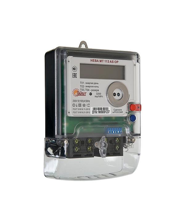 Счетчик Нева 1-фазный электронный 2-тарифный МТ 113 5-100А счетчик воды кв 1 5
