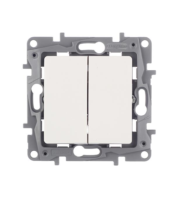 Механизм выключателя двухклавишного с/у Legrand Etika белый механизм выключателя legrand etika белый 2 клавишный 672202