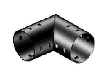 Отвод для дренажных труб d 160 на 90 градусов