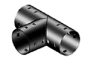 Тройник для дренажных труб d 160