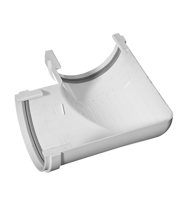 Угол желоба пластиковый  90° универсальный белый, уплотнитель VINYL-ON