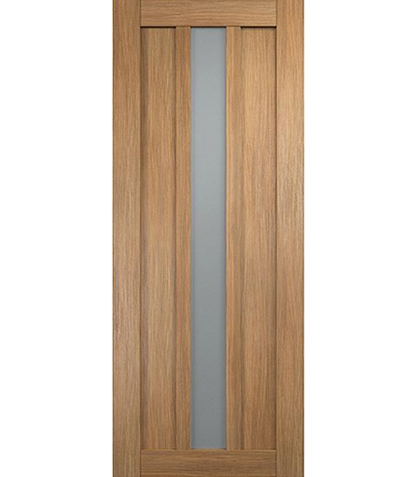 Дверное полотно экошпон Интери 3-1 Золотой дуб со стеклом 800х2000 мм без притвора дверная ручка банан где в санкт петербурге