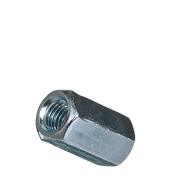 Гайки соединительные оцинкованные М12х36 мм DIN 6334 (1 шт)