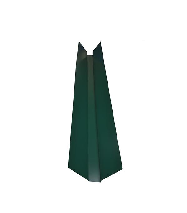 Ендова внешняя для металлочерепицы зеленая RAL 6005 150х150 мм 2 м  планка карнизная для металлочерепицы 80х100 мм 2м зеленая ral 6005
