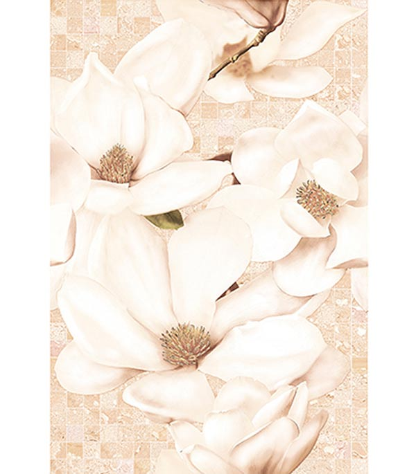 Плитка декор Линда 300х450х8 мм бежевая цветы cersanit tasselli бежевая 44х44