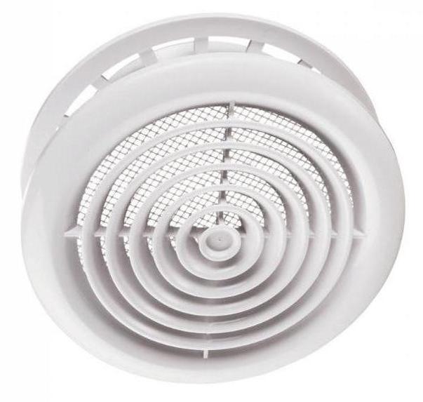Диффузор потолочный круглый с фланцем d125 мм Вентс