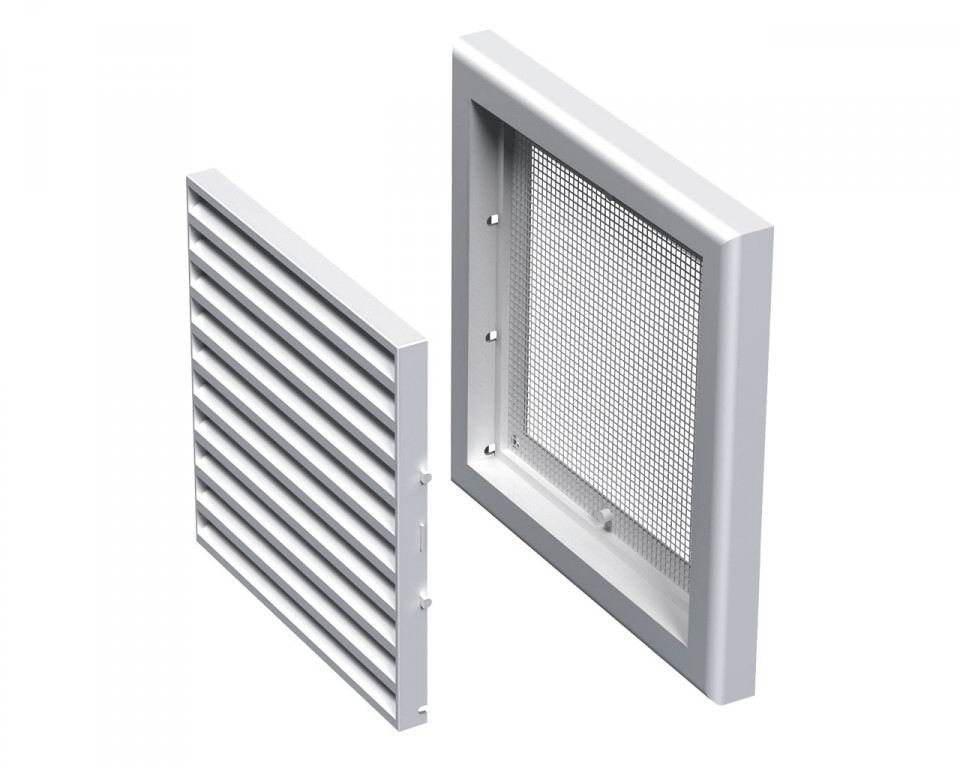 Решетка вентиляционная пластиковая  154х154 мм Вентс