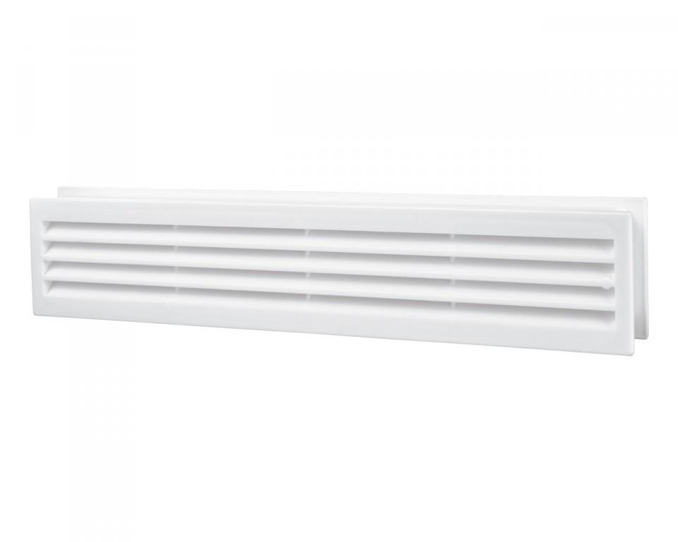 Решетка вентиляционная пластиковая дверная 453х91 мм Вентс
