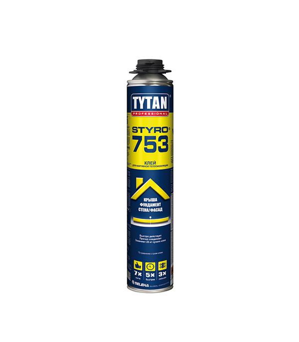 Клей для пенополистирола Tytan Styro 750 мл пена монтажная tytan огнестойкая в1 750 мл