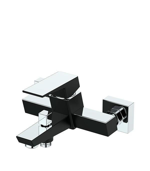 Смеситель для ванны и душа c коротким изливом ARGO PREMIUM GRANO 35-05P однорычажный с лейкой черный/хром гарнитуры душевые argo набор для биде лейка шланг кронштейн argo inga блистер