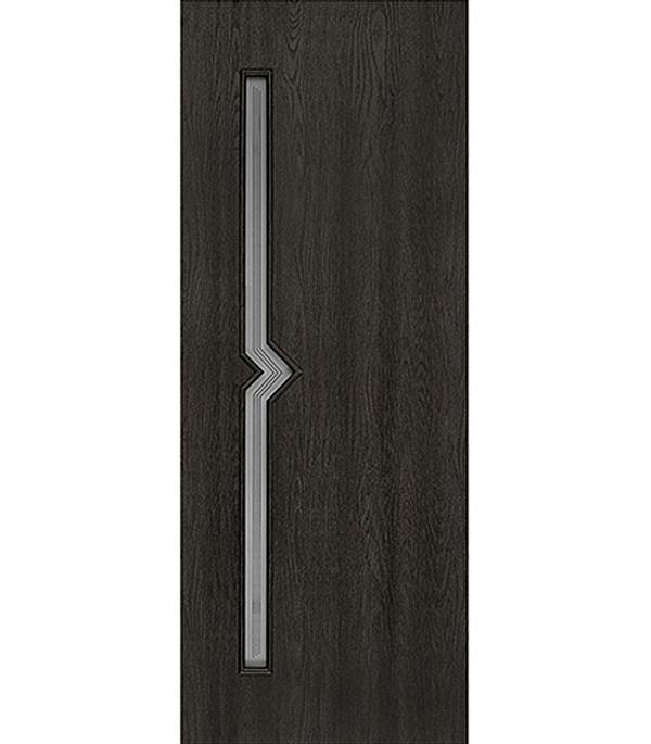 Дверное полотно с 3D покрытием Вега Седой венге 800х2000 мм, со стеклом