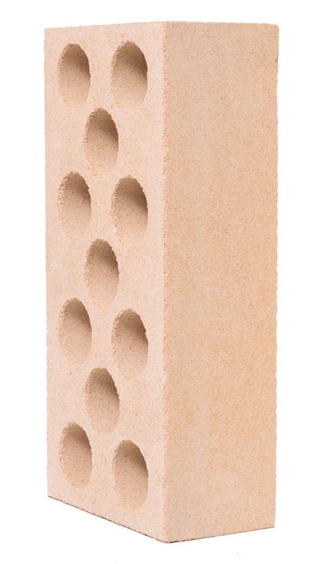 Кирпич  силикатный пустотелый лицевой желтый 250х120х65 мм