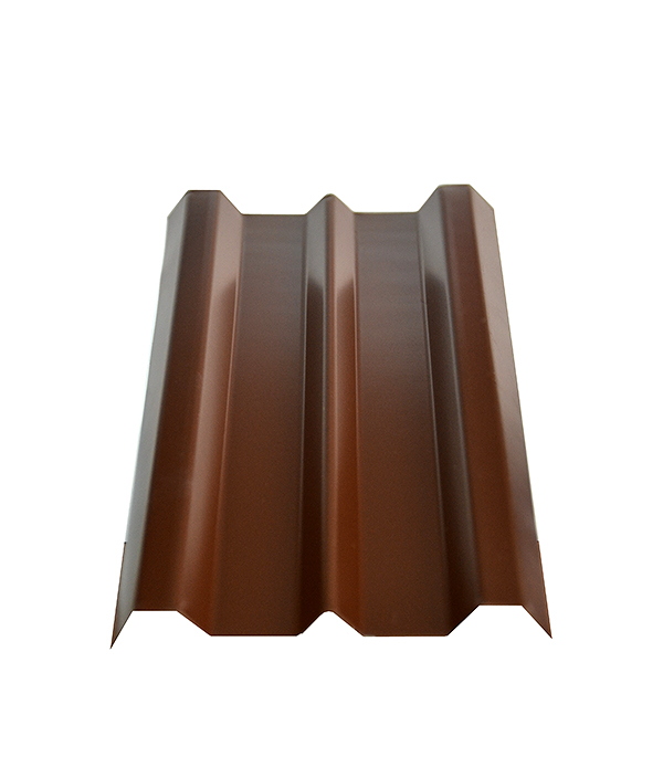 Евроштакетник коричневый толщина 0.4 мм 100х2000 мм  отлив белый 100х2000 мм ral9003