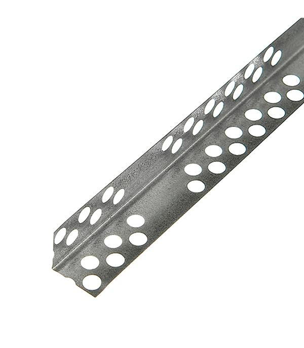 Профиль углозащитный (оцинкованный) 20х20 мм,  3 м Оптима   0,30 мм (50 шт)
