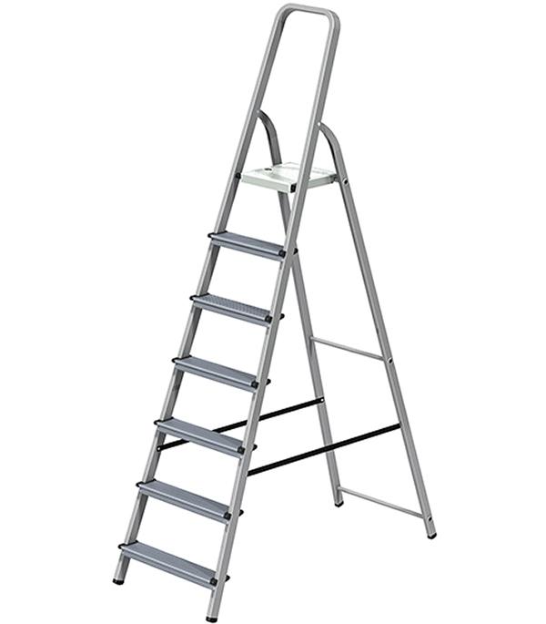 Стремянка комбинированная 7 ступеней Новая высота Эконом