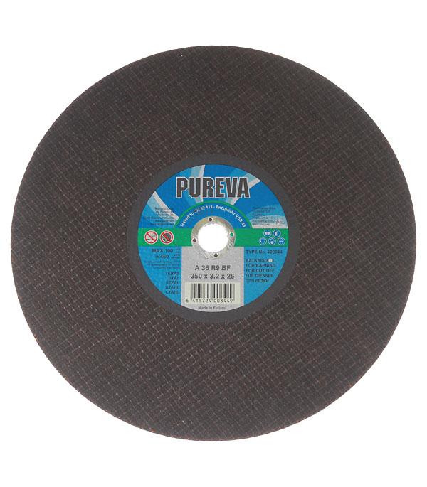 Круг отрезной по металлу PUREVA Профи 350х25.4х3.2 мм круг отрезной по металлу 125х22х1мм bosch профи