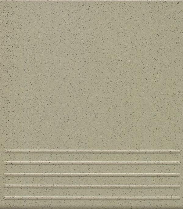 Керамогранит 300х300х8 мм СТУПЕНИ Грес Серый СП светло-серый/Контакт (14 шт=1,26 кв.м)