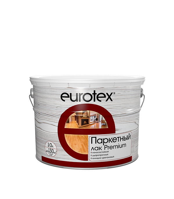 Лак паркетный Eurotex Premium глянцевый 10 л
