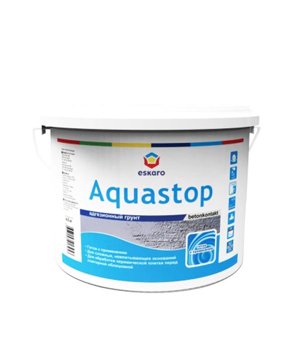 Бетоноконтакт Eskaro Aquastop 4.5 кг средство eskaro biotol spray против плесени 0 5 л