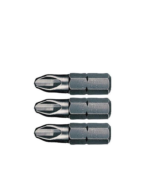 Бита PH набор 3 шт (PH 1,2,3) 25 мм, Bosch Профи