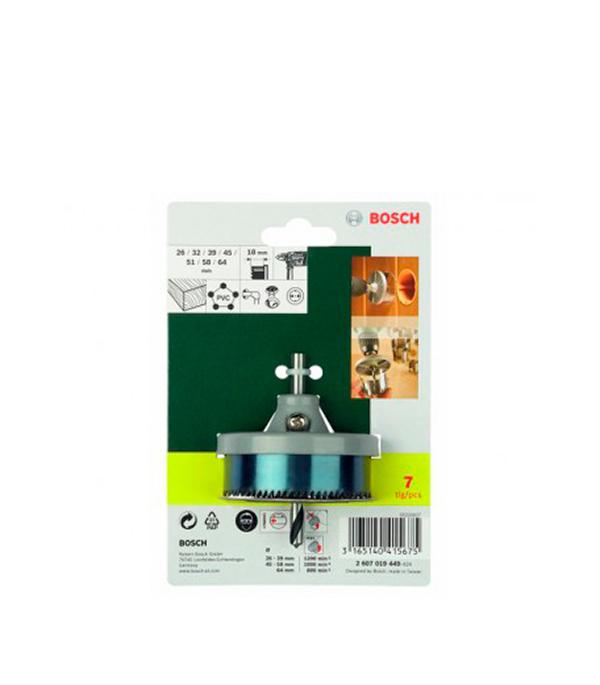 Коронки по дереву набор 7 шт (26-64) мм Promoline Bosch Стандарт