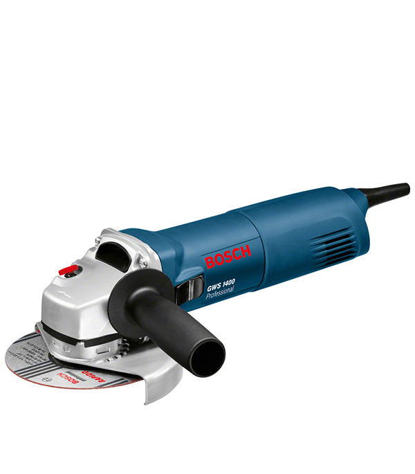 Шлифмашина угловая Bosch GWS 1400 1400 Вт 125 мм шлифовальная машина bosch gws 1400 professional