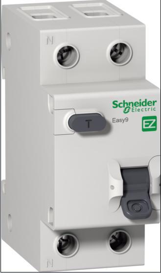 Автомат дифференциальный  1P+N, 25А, тип C, 30мА, 4,5кА, Schneider Electric, Easy9