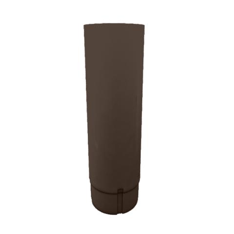 Водосточная труба Grand Line d90 мм коричневый 2.5 м металлическая угол желоба внутренний grand line 125 90° красное вино металлический